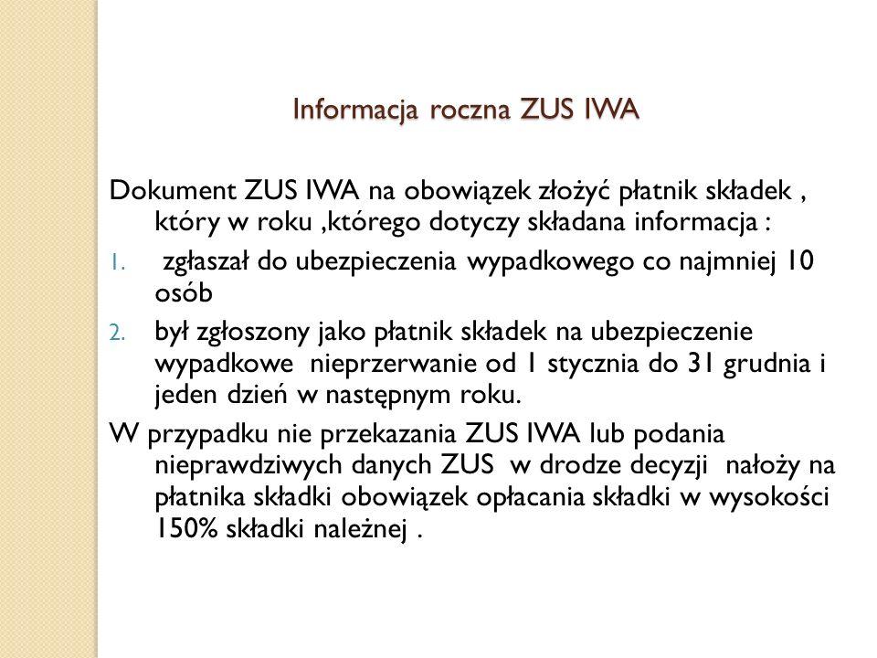 Informacja roczna ZUS IWA