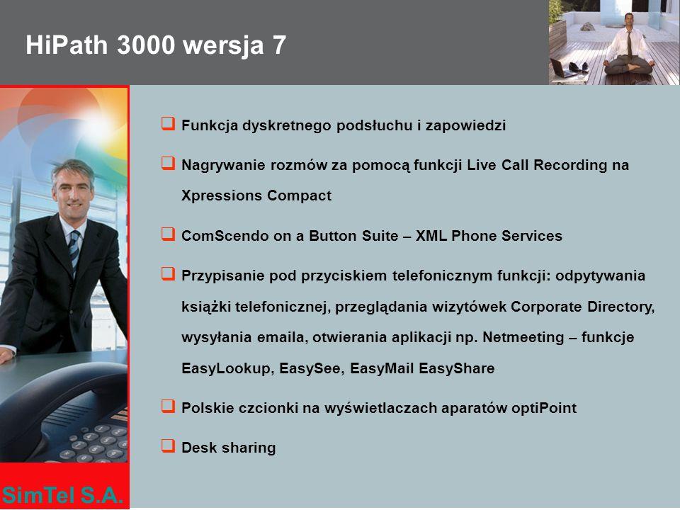 HiPath 3000 wersja 7 Funkcja dyskretnego podsłuchu i zapowiedzi