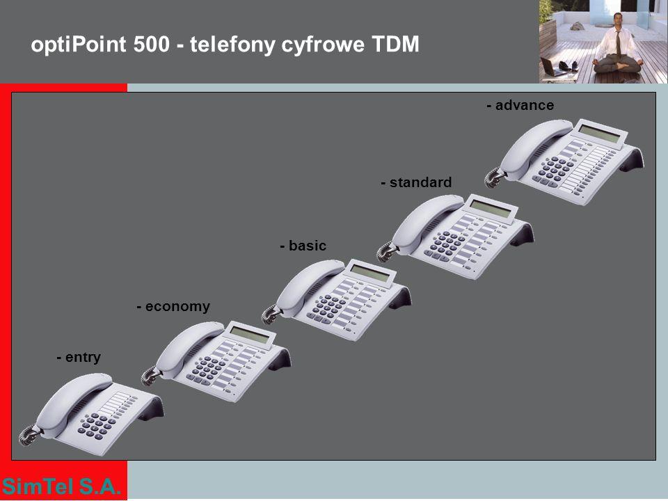 optiPoint 500 - telefony cyfrowe TDM