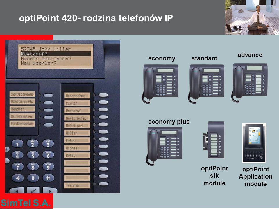 optiPoint 420- rodzina telefonów IP