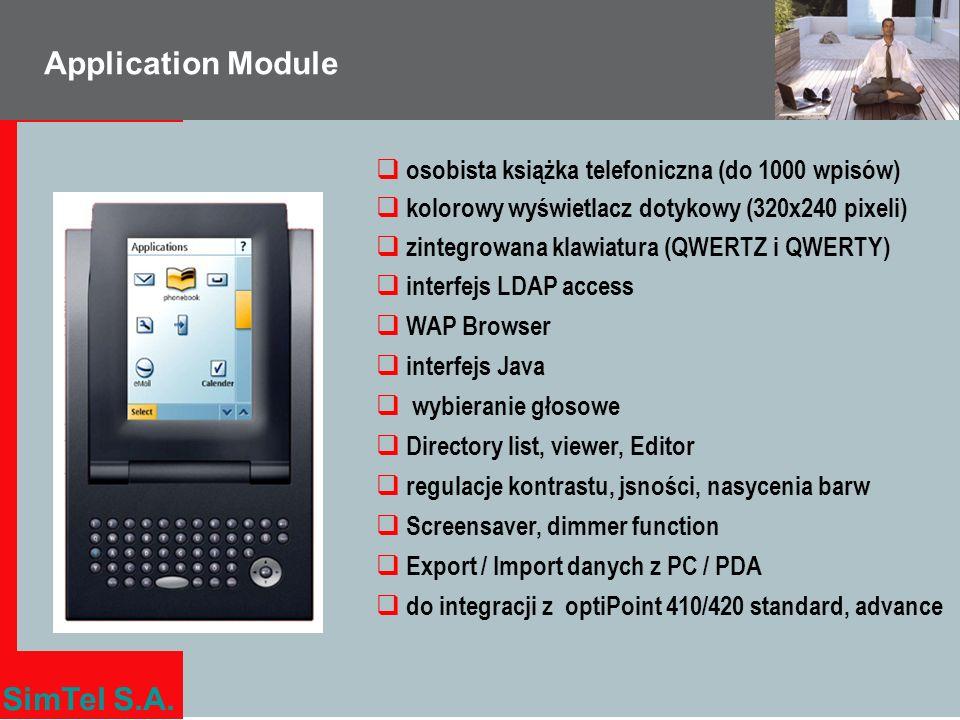 Application Module osobista książka telefoniczna (do 1000 wpisów)