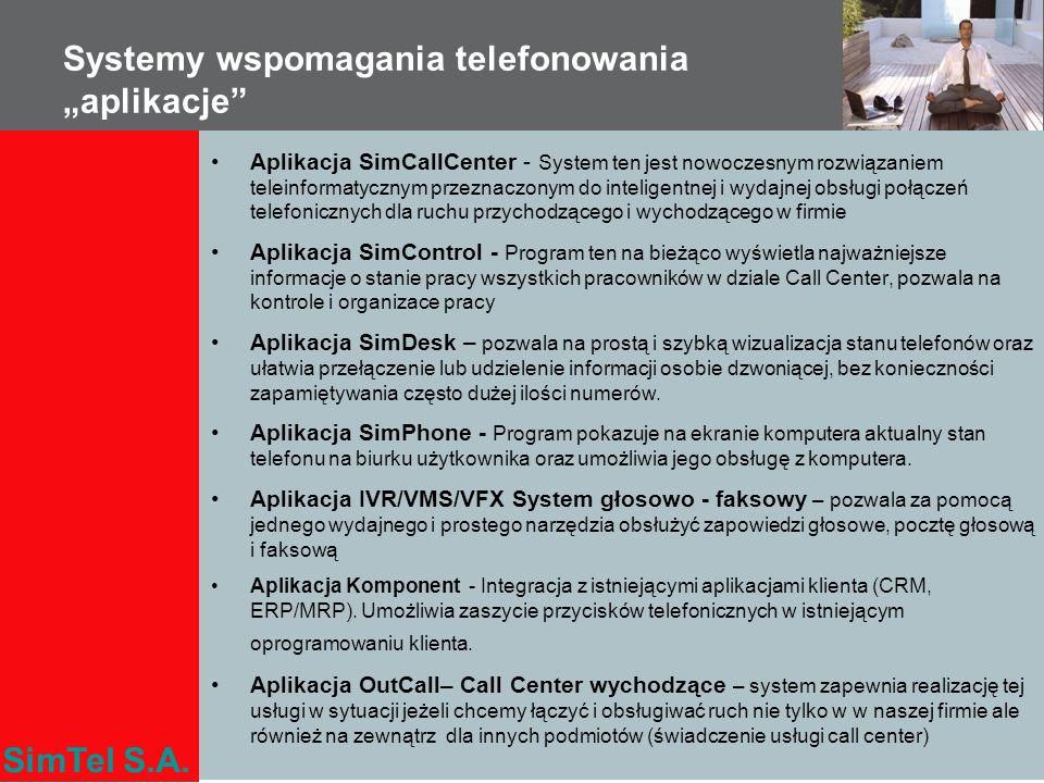 """Systemy wspomagania telefonowania """"aplikacje"""
