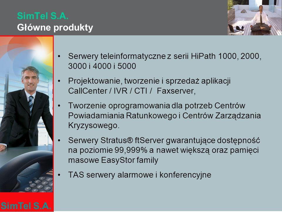 SimTel S.A. Główne produkty