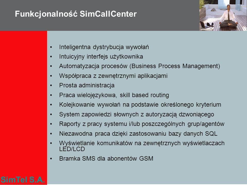 Funkcjonalność SimCallCenter