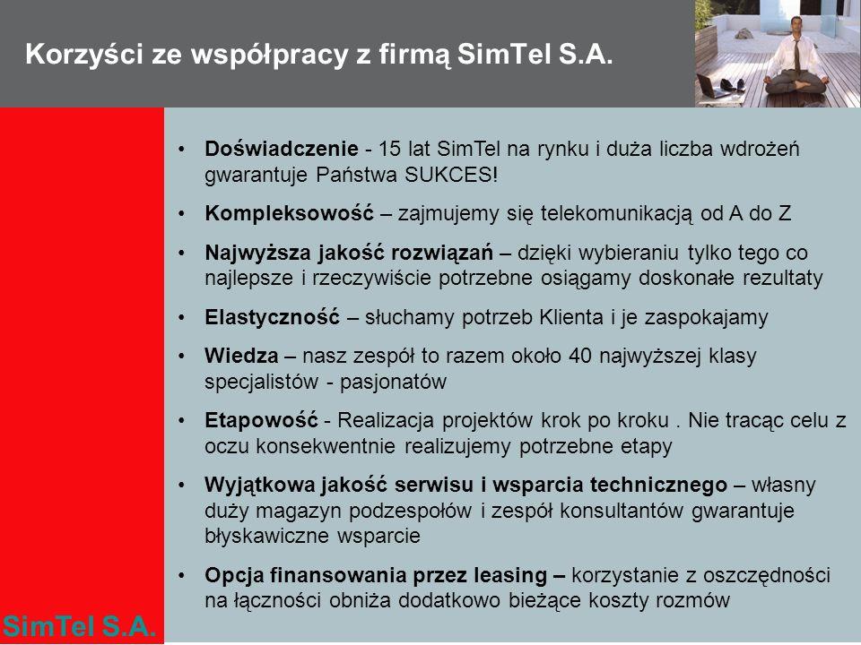 Korzyści ze współpracy z firmą SimTel S.A.