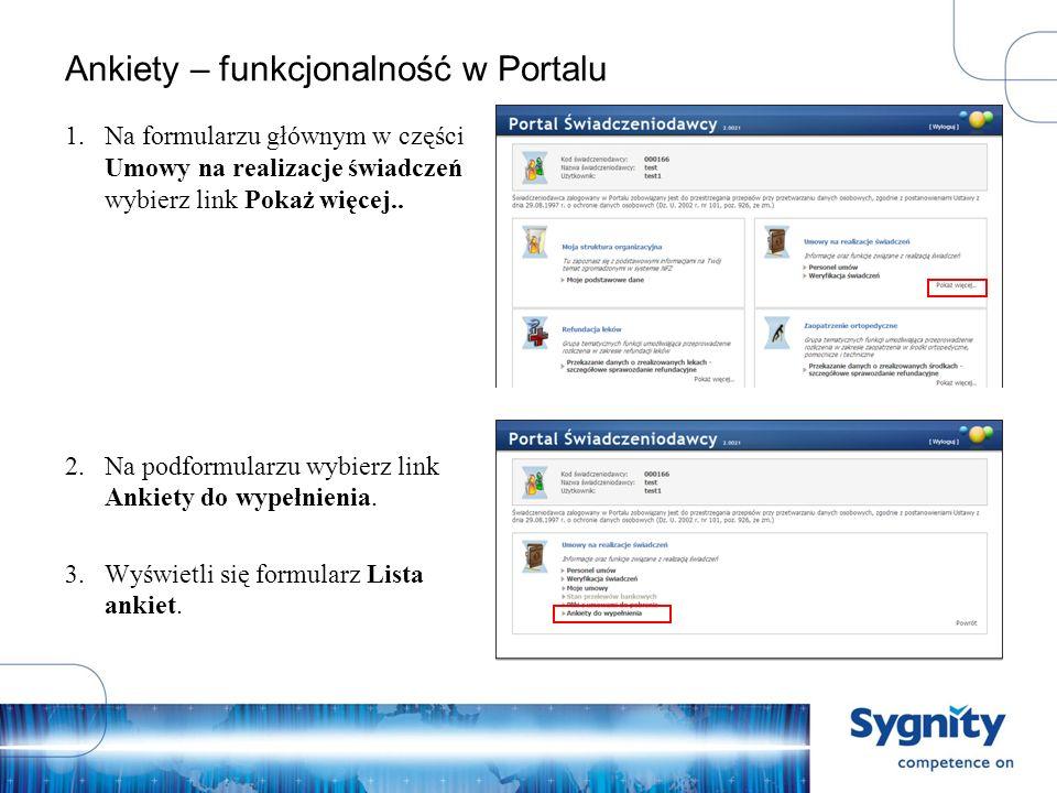 Ankiety – funkcjonalność w Portalu