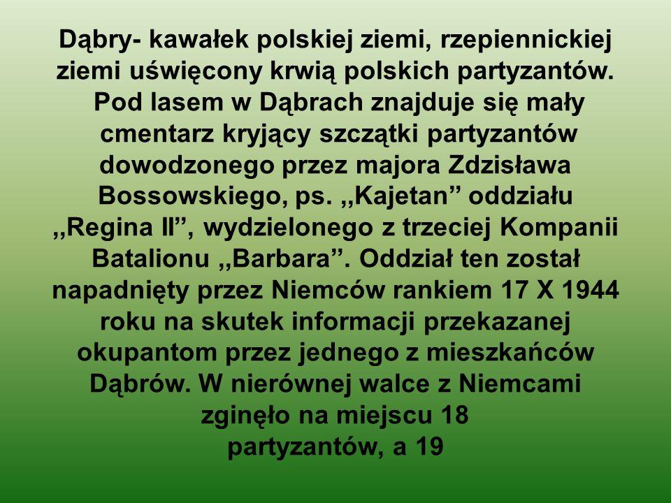 Dąbry- kawałek polskiej ziemi, rzepiennickiej