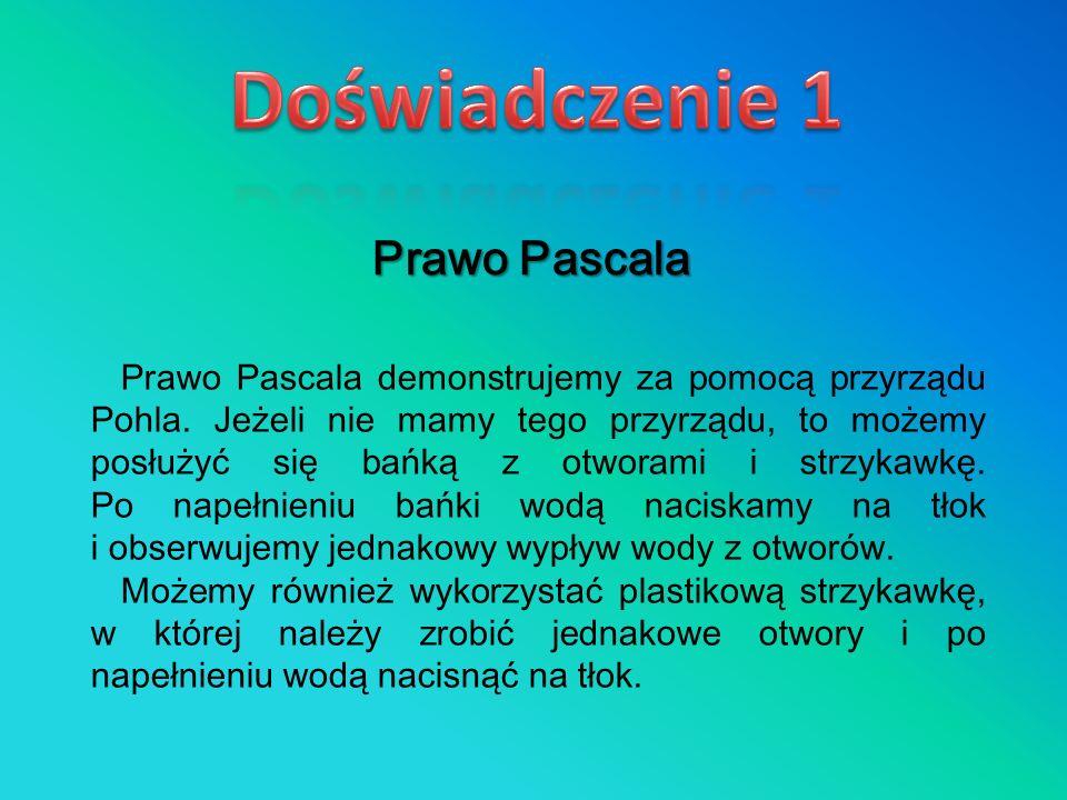 Doświadczenie 1 Prawo Pascala