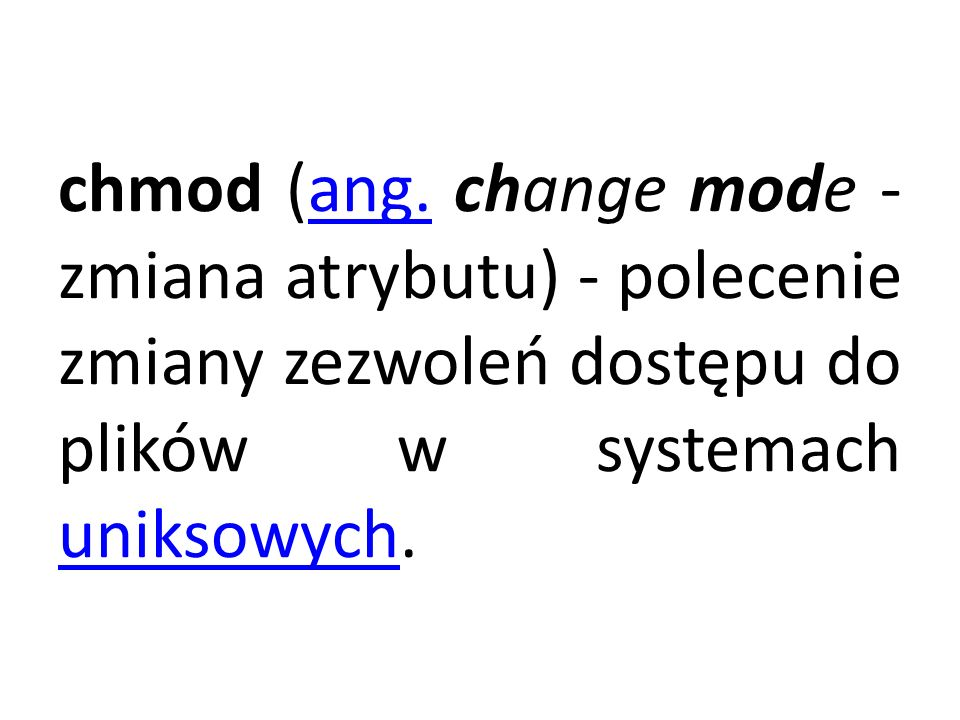 chmod (ang.