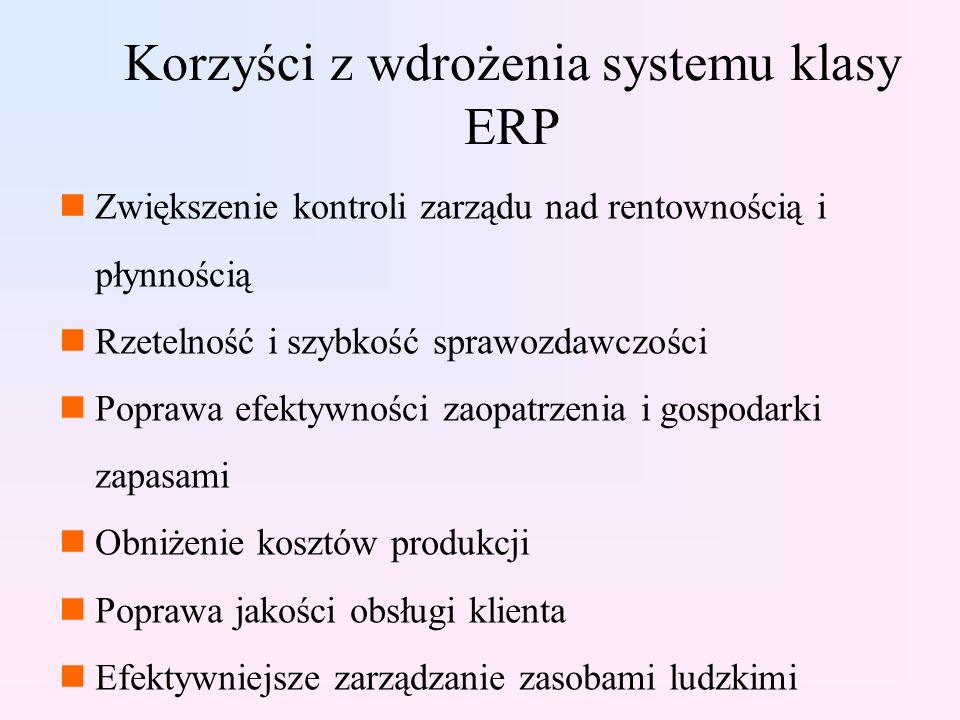 Korzyści z wdrożenia systemu klasy ERP