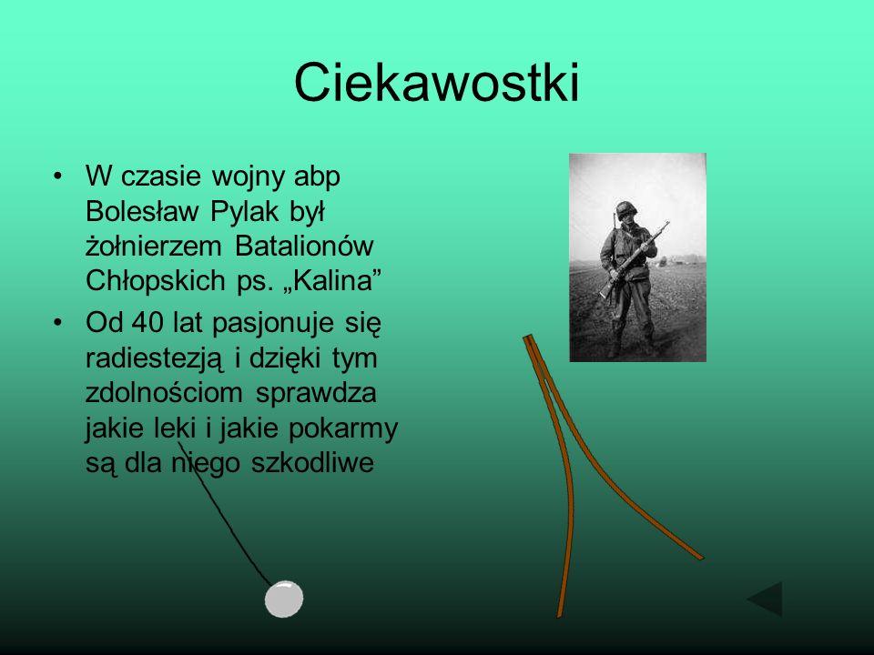 """Ciekawostki W czasie wojny abp Bolesław Pylak był żołnierzem Batalionów Chłopskich ps. """"Kalina"""