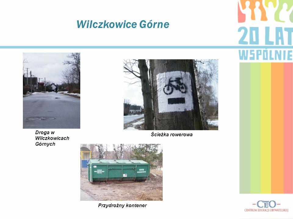 Wilczkowice Górne Droga w Wilczkowicach Górnych Ścieżka rowerowa