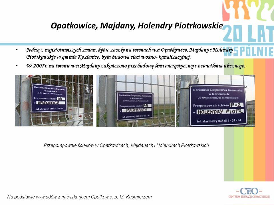 Opatkowice, Majdany, Holendry Piotrkowskie