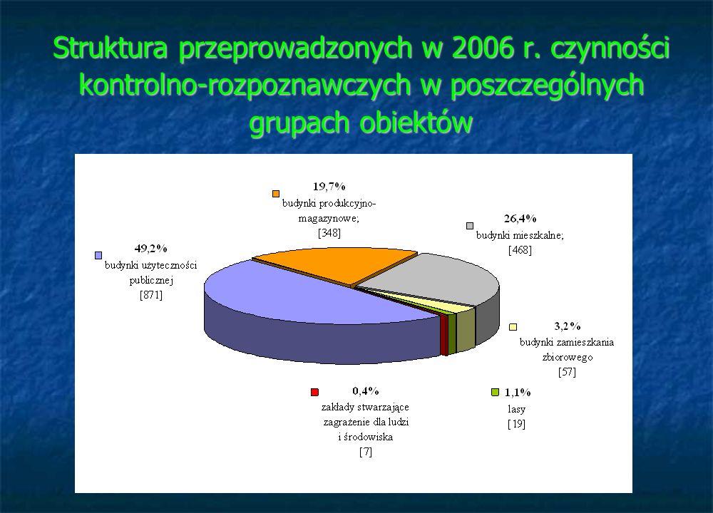 Struktura przeprowadzonych w 2006 r