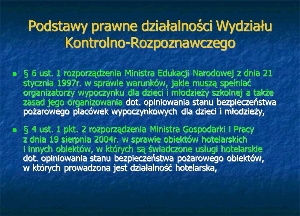 Podstawy prawne działalności Wydziału Kontrolno-Rozpoznawczego