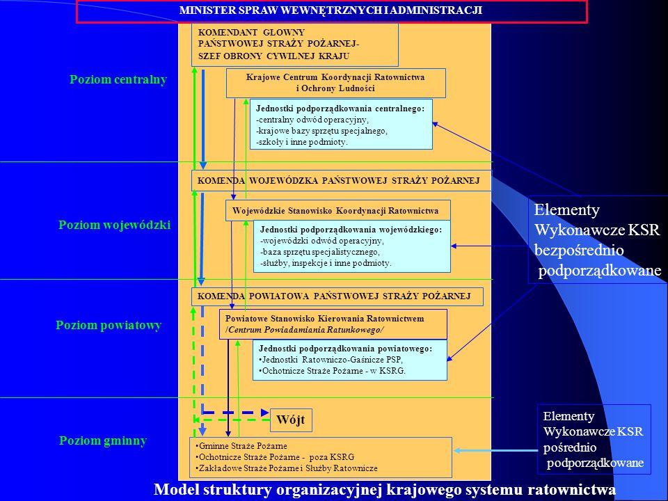 Elementy Wykonawcze KSR bezpośrednio podporządkowane Poziom centralny