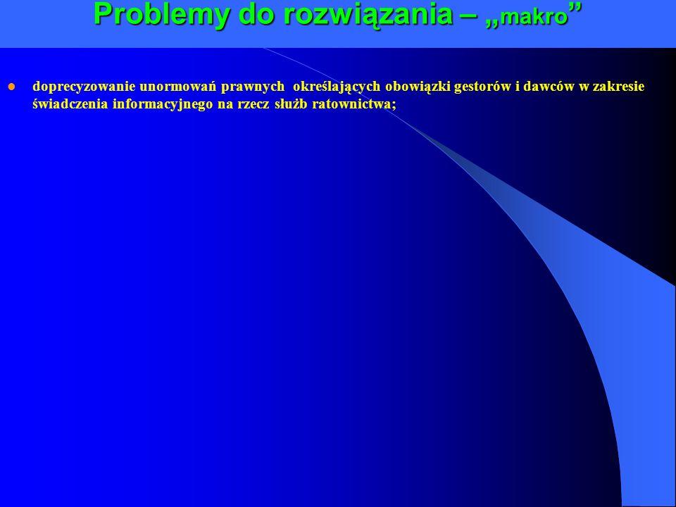 """Problemy do rozwiązania – """"makro"""