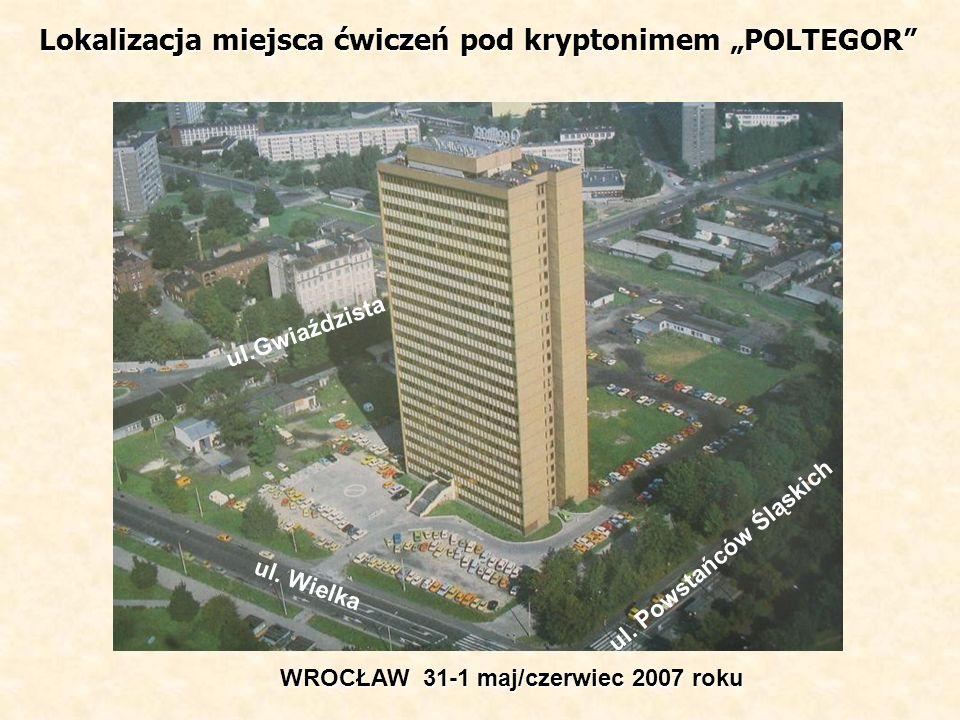 """Lokalizacja miejsca ćwiczeń pod kryptonimem """"POLTEGOR"""