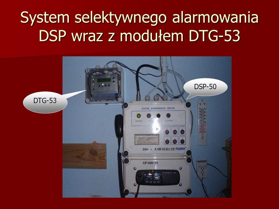 System selektywnego alarmowania DSP wraz z modułem DTG-53