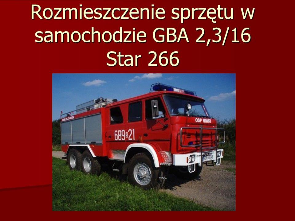 Rozmieszczenie sprzętu w samochodzie GBA 2,3/16 Star 266
