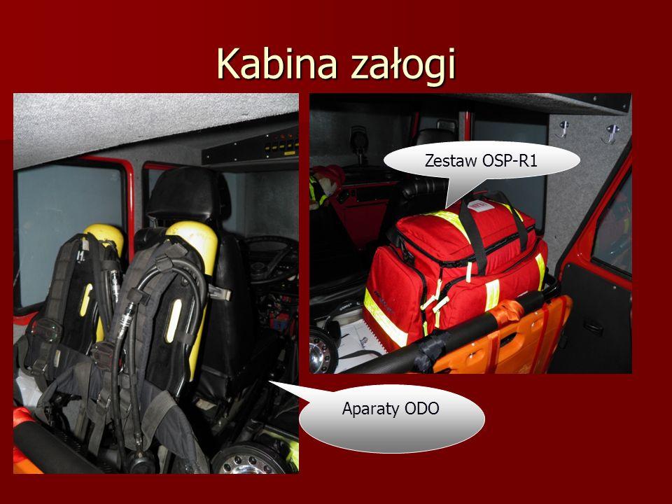 Kabina załogi Zestaw OSP-R1 Aparaty ODO