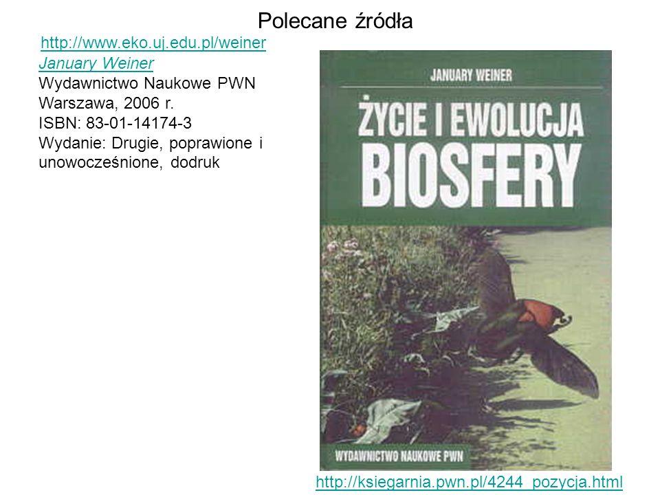 Polecane źródła http://www.eko.uj.edu.pl/weiner