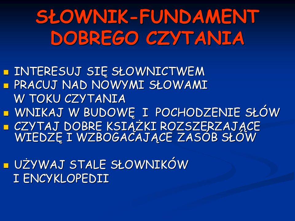 SŁOWNIK-FUNDAMENT DOBREGO CZYTANIA
