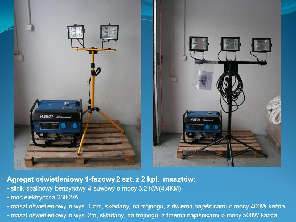 Agregat oświetleniowy 1-fazowy 2 szt. z 2 kpl. masztów: