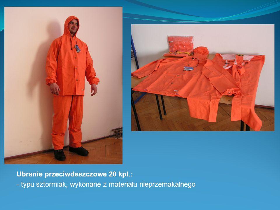 Ubranie przeciwdeszczowe 20 kpl.: