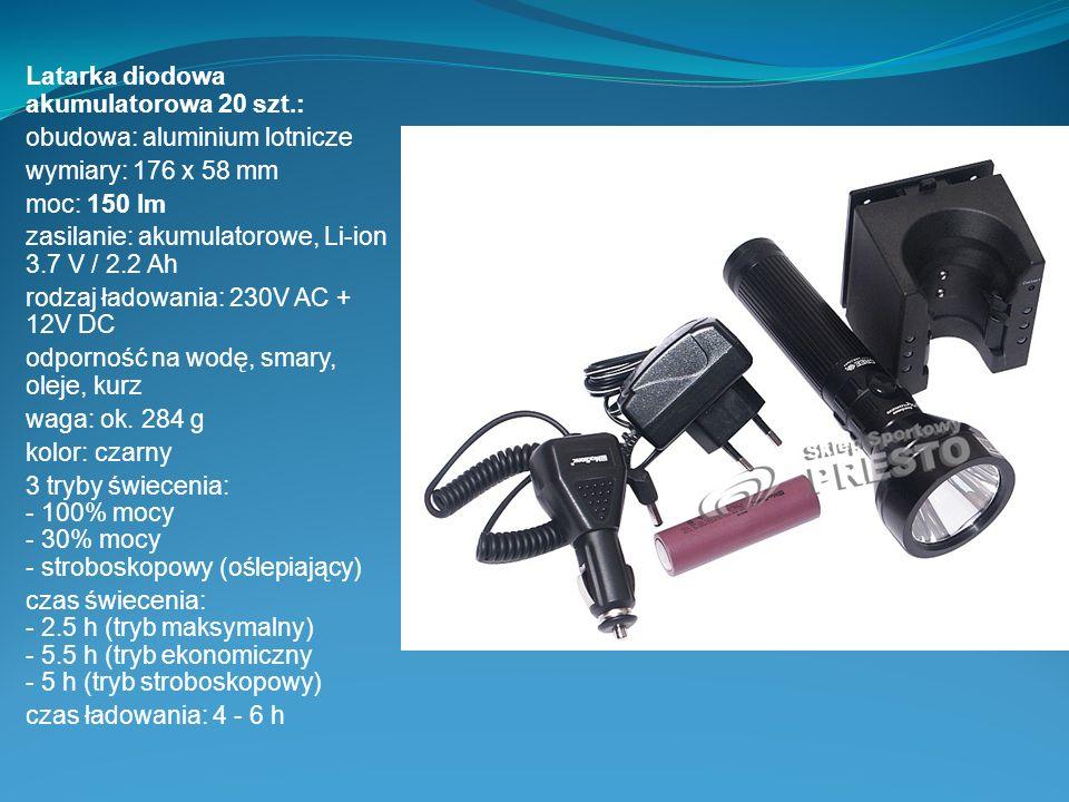 Latarka diodowa akumulatorowa 20 szt.: