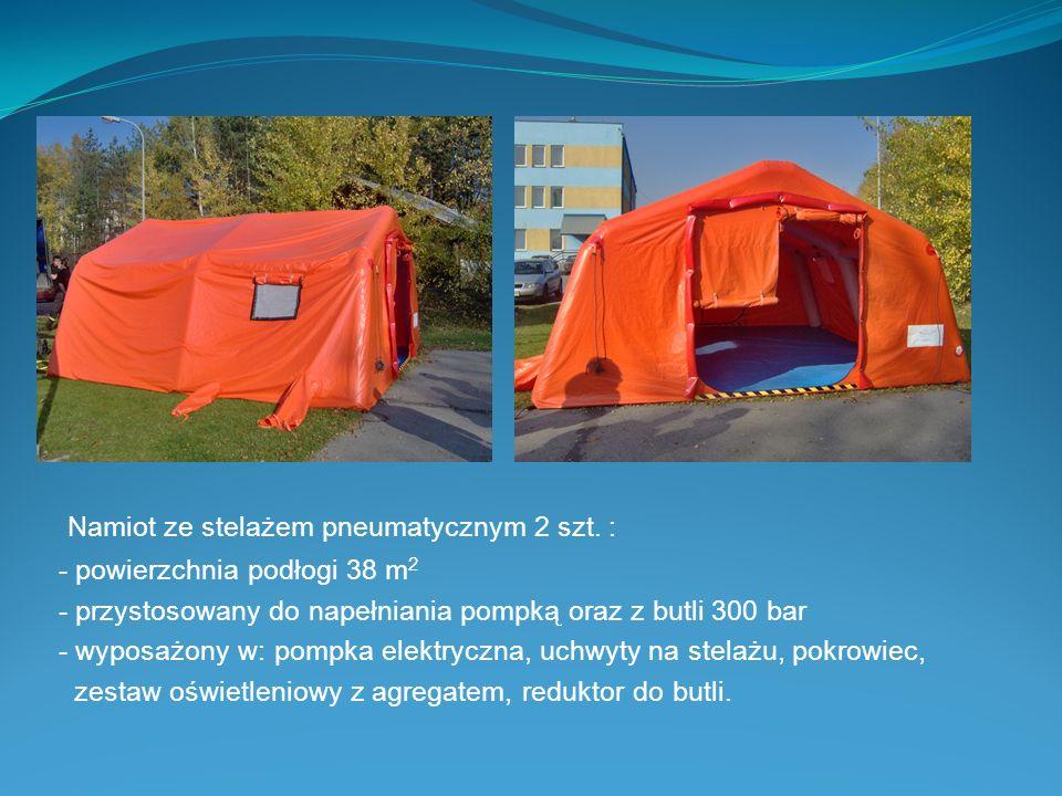 Namiot ze stelażem pneumatycznym 2 szt. :