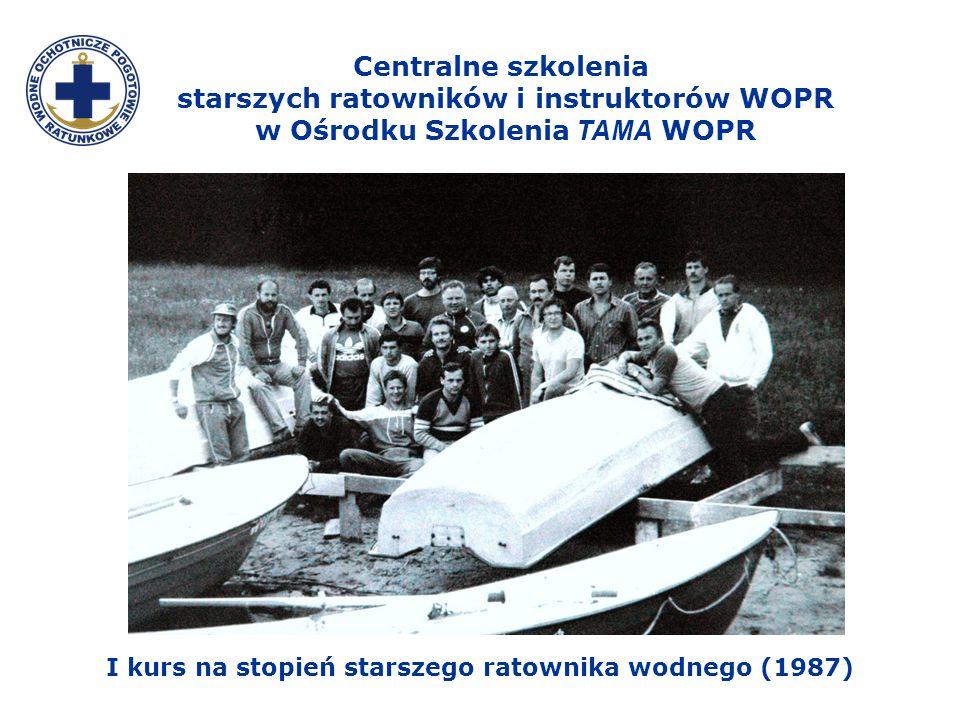 I kurs na stopień starszego ratownika wodnego (1987)