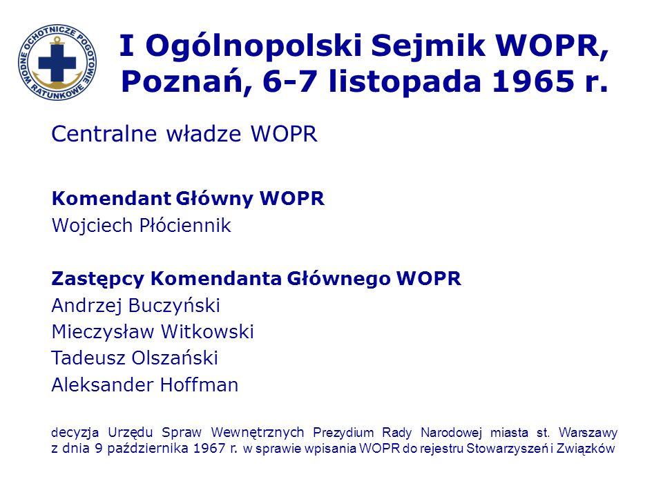 I Ogólnopolski Sejmik WOPR, Poznań, 6-7 listopada 1965 r.