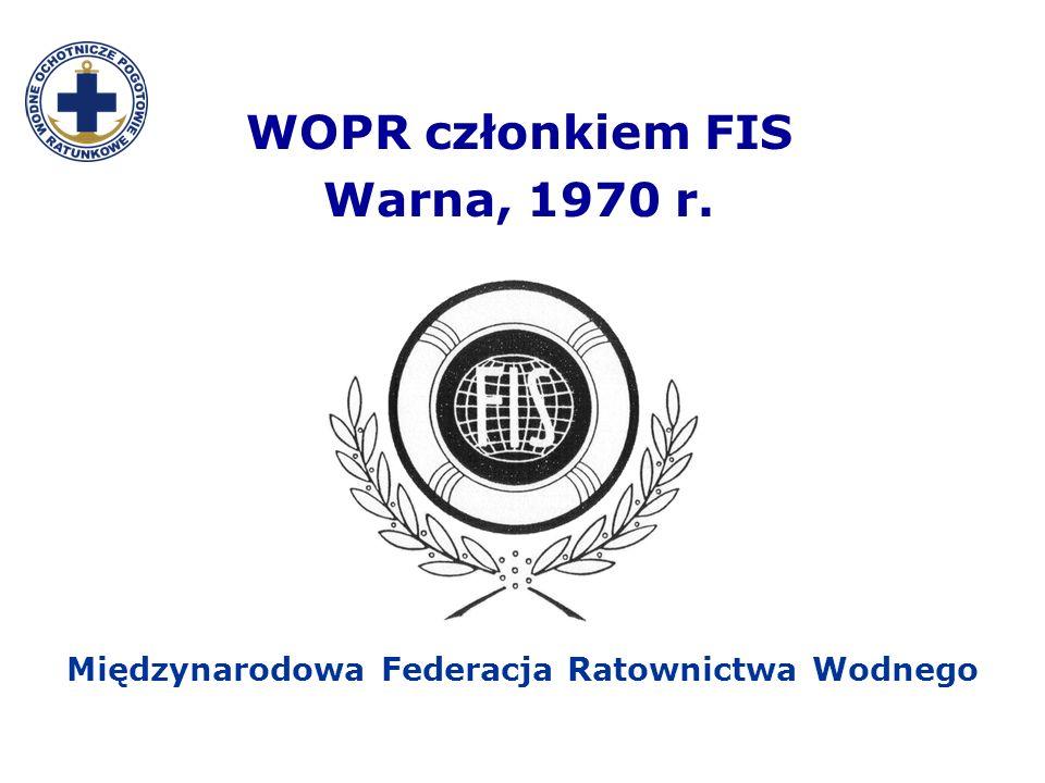 WOPR członkiem FIS Warna, 1970 r.