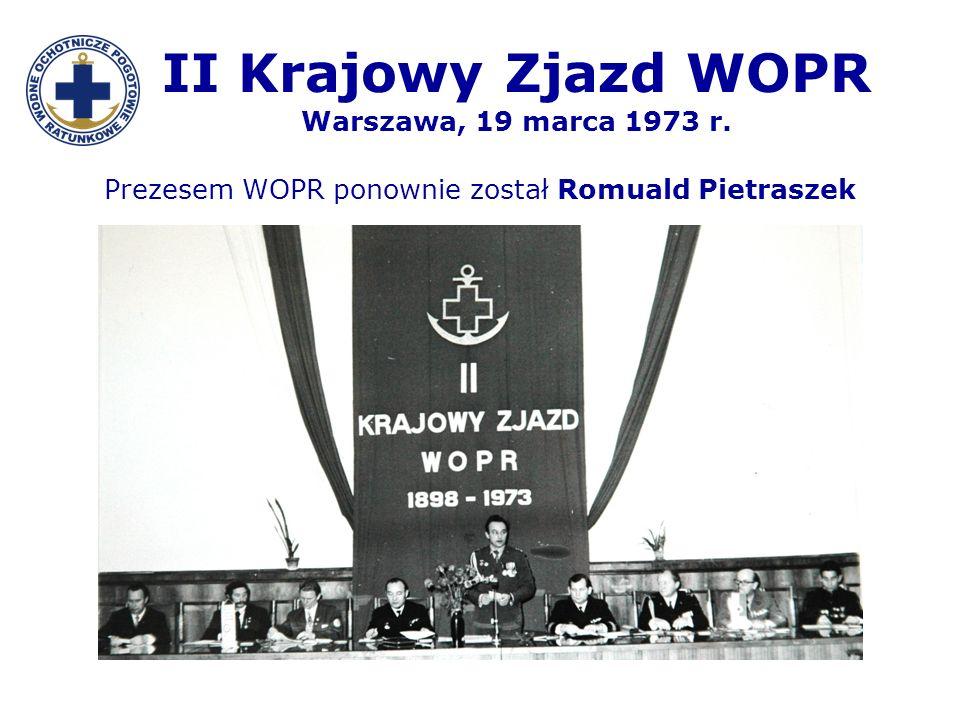 II Krajowy Zjazd WOPR Warszawa, 19 marca 1973 r.