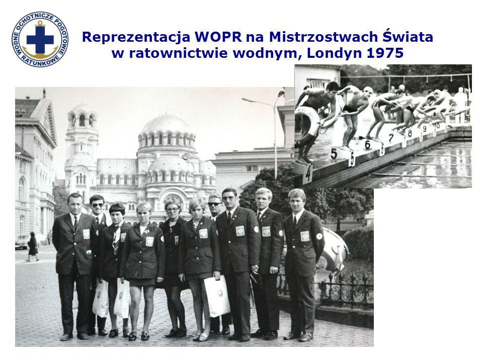Reprezentacja WOPR na Mistrzostwach Świata w ratownictwie wodnym, Londyn 1975