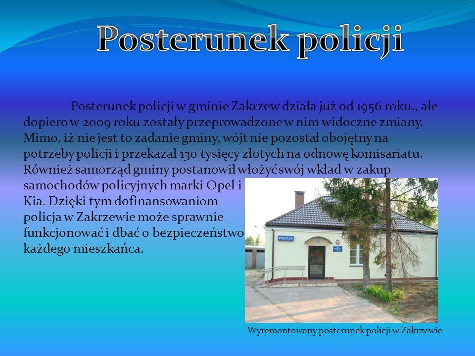 Wyremontowany posterunek policji w Zakrzewie