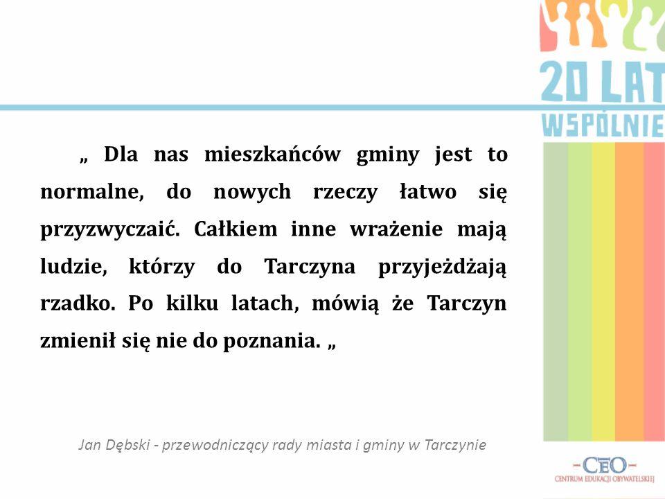 Jan Dębski - przewodniczący rady miasta i gminy w Tarczynie