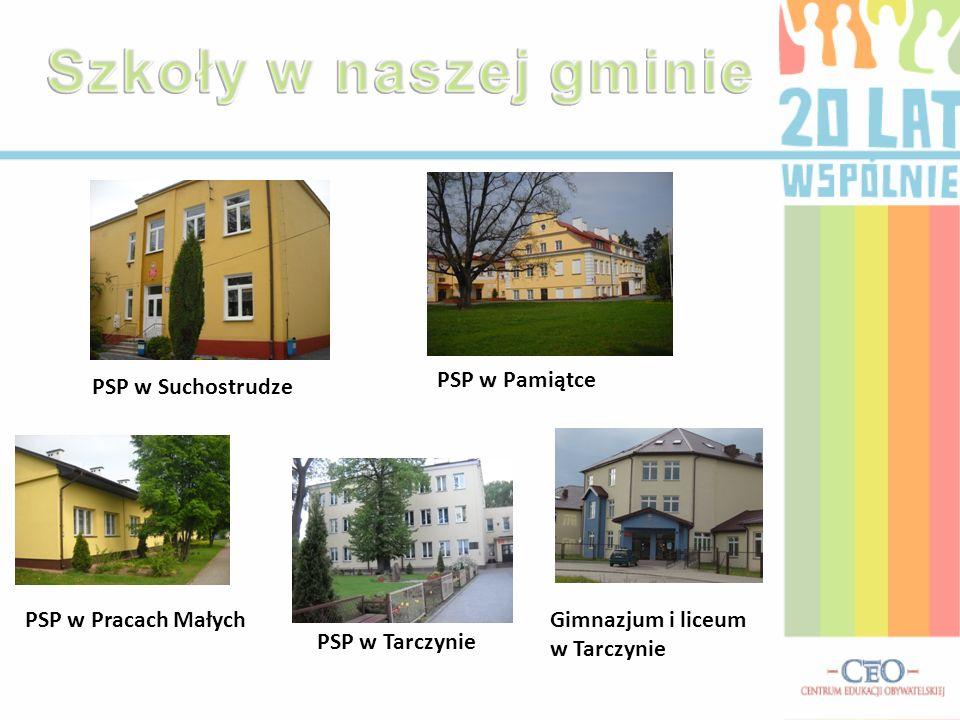 Szkoły w naszej gminie PSP w Pamiątce PSP w Suchostrudze