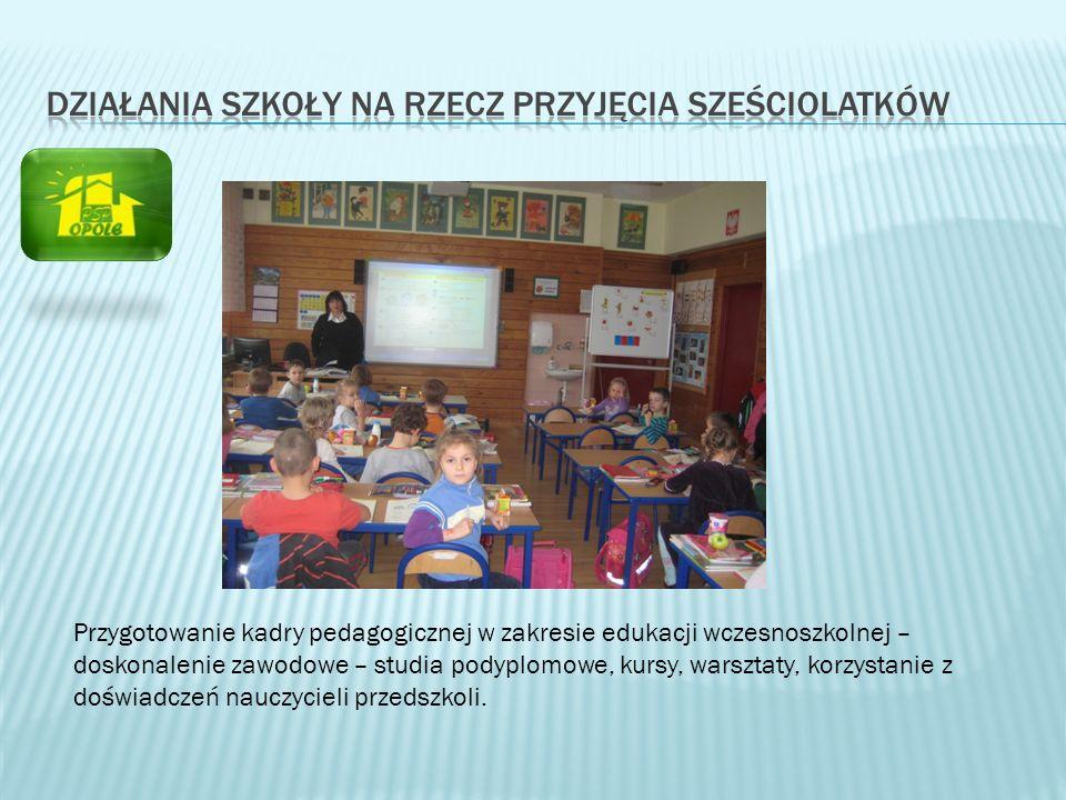 Działania szkoły na rzecz przyjęcia sześciolatków