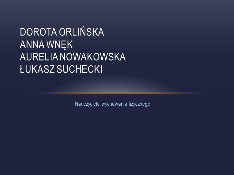 Dorota Orlińska Anna Wnęk Aurelia Nowakowska Łukasz Suchecki