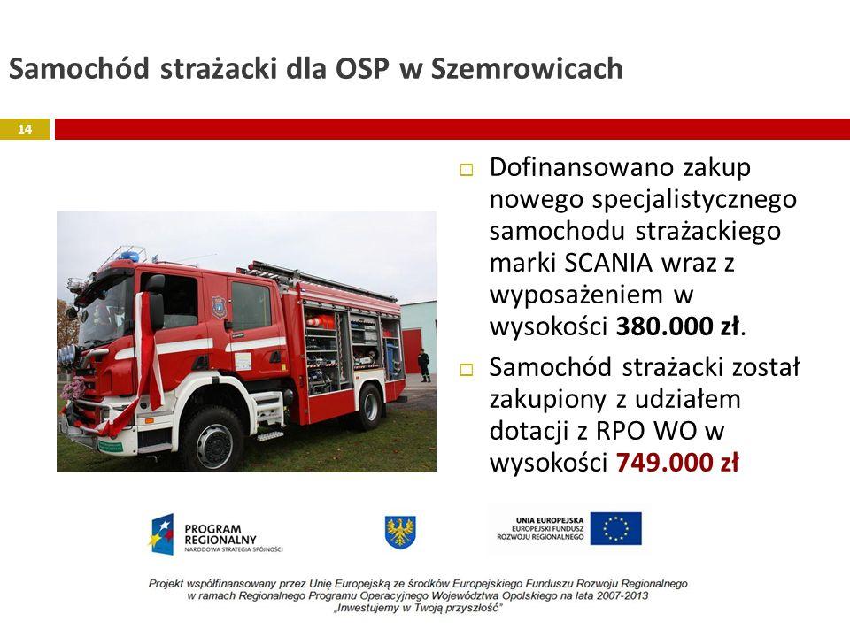 Samochód strażacki dla OSP w Szemrowicach