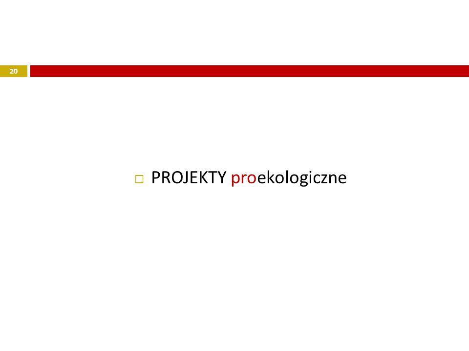 PROJEKTY proekologiczne