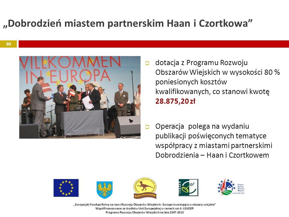 """""""Dobrodzień miastem partnerskim Haan i Czortkowa"""
