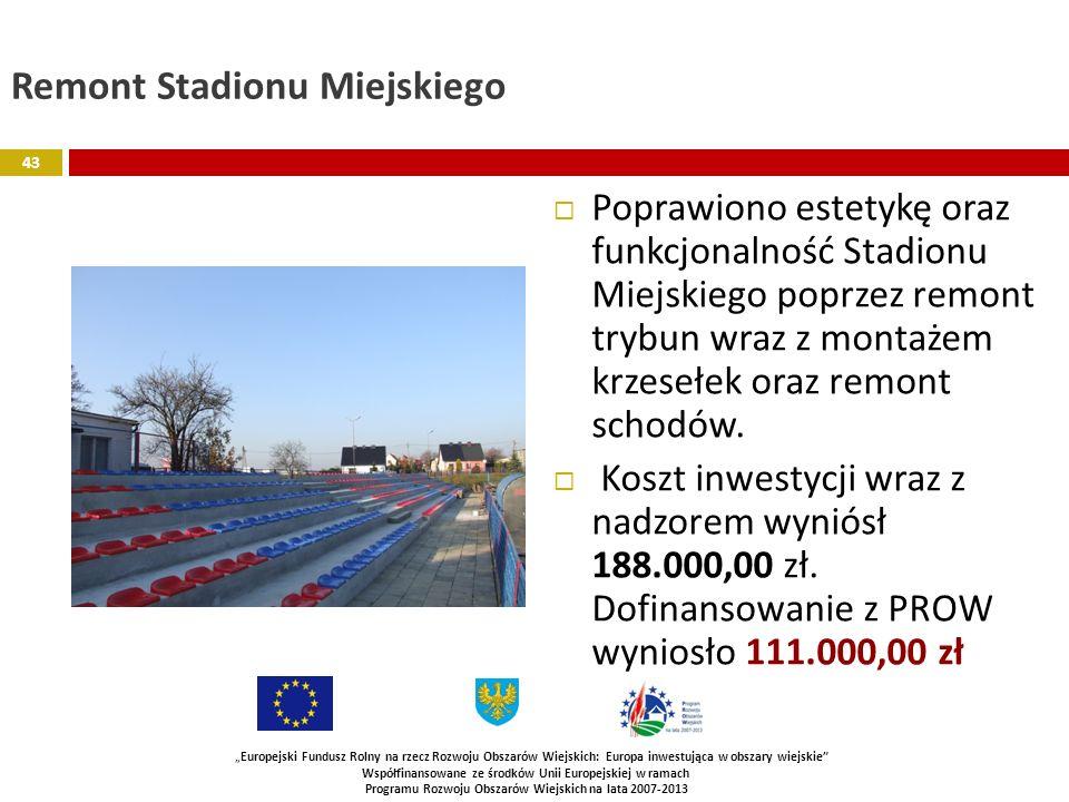 Remont Stadionu Miejskiego