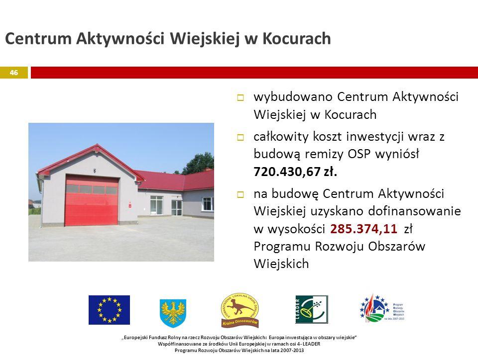 Centrum Aktywności Wiejskiej w Kocurach