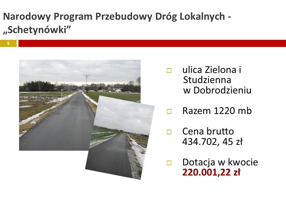 """Narodowy Program Przebudowy Dróg Lokalnych - """"Schetynówki"""