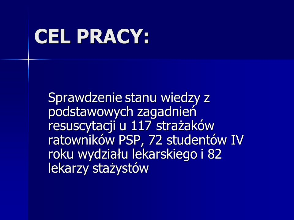 CEL PRACY: