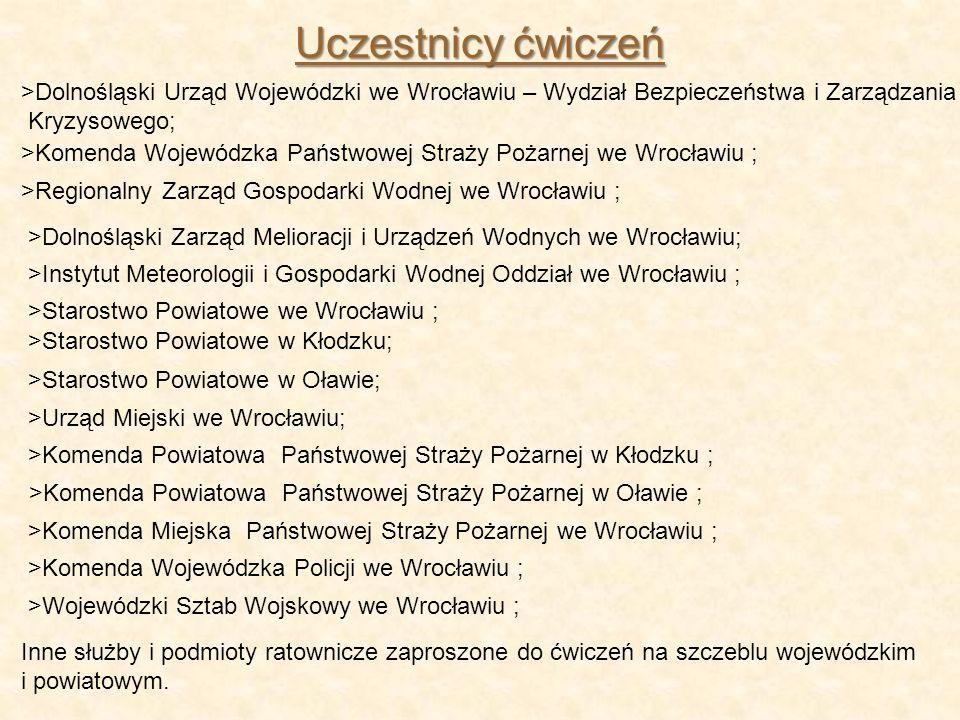 Uczestnicy ćwiczeń >Dolnośląski Urząd Wojewódzki we Wrocławiu – Wydział Bezpieczeństwa i Zarządzania.