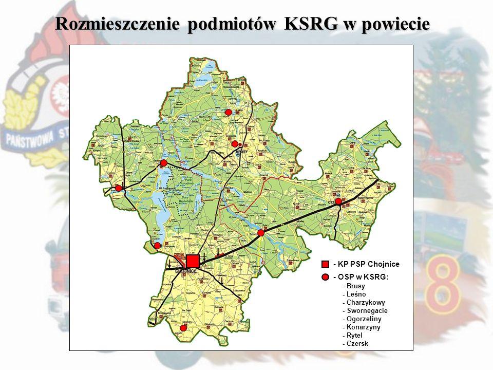 Rozmieszczenie podmiotów KSRG w powiecie